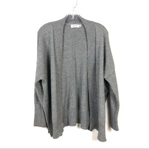 RD Style Gray Oversized Cardigan w/Side Slits